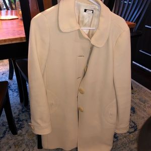 MUST GO! J Crew cream coat with buttons